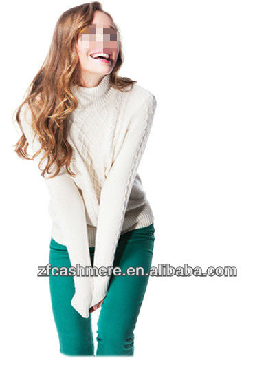 Elegant ladies cashmere plain Pullover,sweater