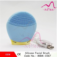 Newest skin care machine sonic silicone face massage vibrating electronic facial silicone scrubber