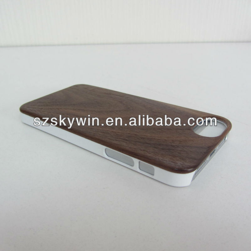 Latest New Oem Custom Branded Carve Design Wood+pc Hard Phone Case For Iphone5