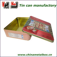 Wholesale customized designed tin cookies jar,chocolate jar for packaging