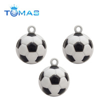 Excellent quality new style metal football and basketball charm pendant