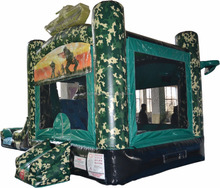 kids infaltable camo bounce house slide combo/commercial inflatable funny jumping castle slide for wet or dry