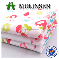 Mulinsen Textile Cheap Price Woven Plain TC Blend 65% Polyester 35% Cotton Cherry Printing Shirt Fabric