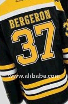 Boston Bruins #37 Patrice Bergeron Black Discount Customized Ice Hockey Jerseys