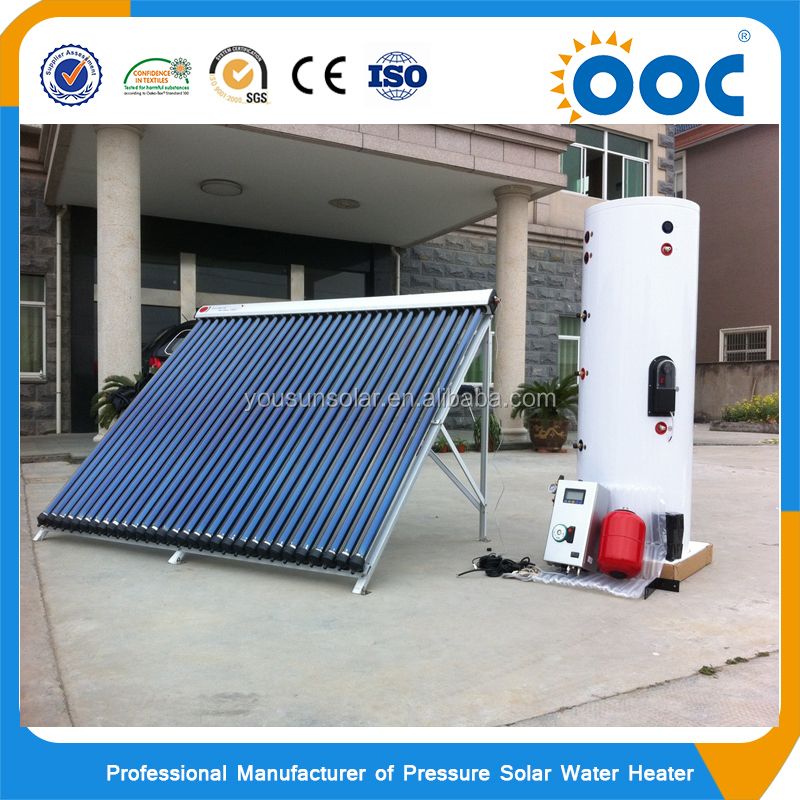 Good price split pressure solar boiler with heat pipe solar collector