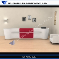 Marble Front Counter, Corian Reception, Solid surface reception counter design