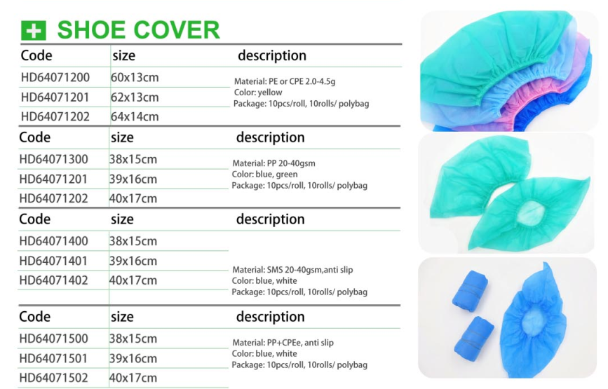 Disposable Non Woven Shoe Cover,Medical Non Slip Shoe Covers