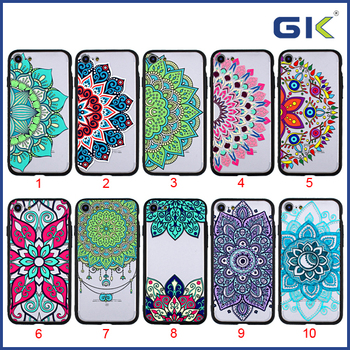 [GGIT] National Electroplating Button 3D Embossed Matte PC Soft TPU UV Varnish Hybrid Cover For IPhone 7 Case