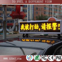 High quality p7.62*p6 outdoor one color double side LED screen products car/taxi roof top advertising lighted signs