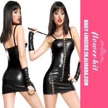 Sexy Vinyl Leather Mini Club <strong>Dress</strong> For Women