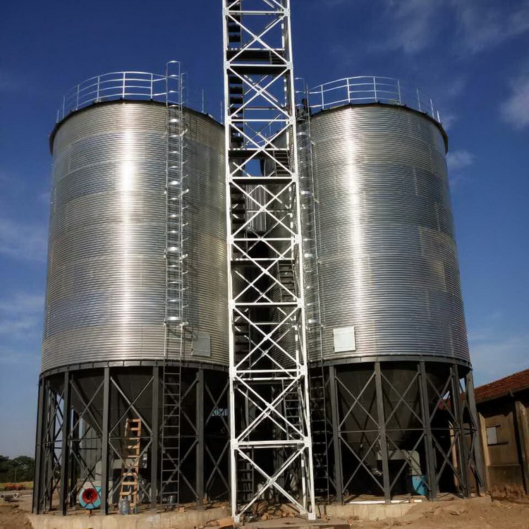 Factory price flat bottom steel grain silo for sale