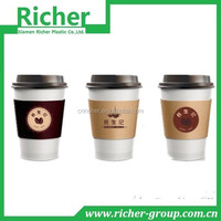 White high grade double wall paper coffee cup