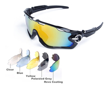 SEASUN Polarized Sports Sunglasses with 5 Interchangeable Lenses for Men Women Cycling Running Fishing Driving Golf Glasses