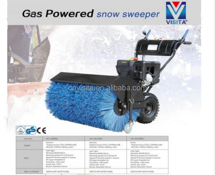 375cc Gas powered road snow sweeper
