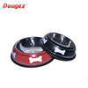 hot selling Popular & Cheap Supreme Bone Print Travel Stainless Steel Pet Dish /Dog Bowl /Pet feeder