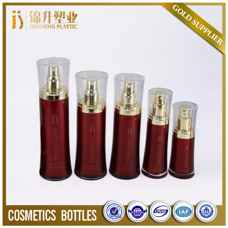 Cosmetic acrylic round cosmetic lotion bottles and packaging