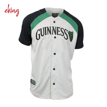 2018 New Custom Sublimation Full Button Baseball Jersey