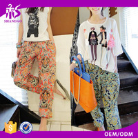 Popular Alibaba Trendy Harem Pant Brand Trousers Floral Casual Pants Baggy Beach Trousers