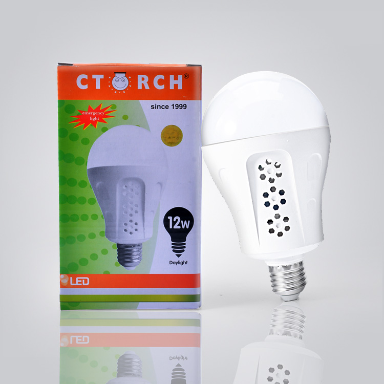 New design CE certificate rechargeable B22 E27 12w led emergency bulb