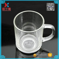 2016 hot sale cheap glass tea cups with handle
