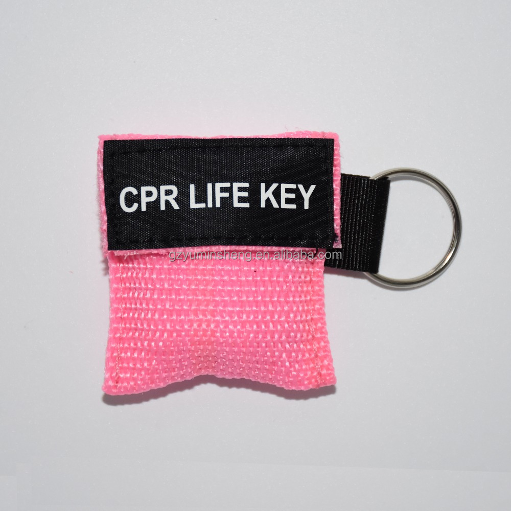 Disposable keyring cpr mask ,replacement cpr face shield latex free