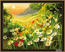 Chinese high quality wholesale handmade beautiful scenery oil painting on canvas