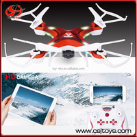 China Juguetes Cheaper price Remote control toy drone 2.4G Android wifi control RC quadcopter with FPV Video Camera