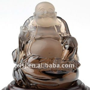 Natural Equisite Smoky Quartz Crystal Buddha