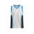 Customize sublimated international striped basketball jersey uniform design color white
