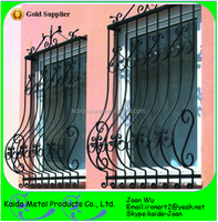 Decorative Wrought Iron Safety Window Grills Design