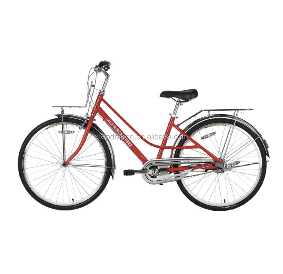 "Retail Graceful Red 26"" City Bike / Alloy Road Bike / Lady Bicycle Cheap for Sale"