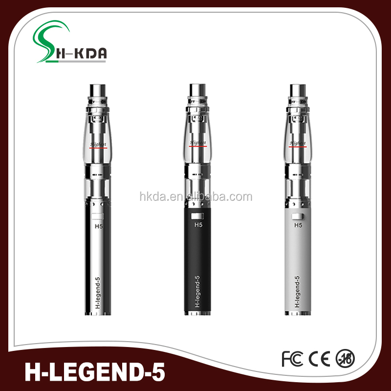 100% Original vape mods H legend 5 electronic glass hookah pen shisha pen with battery kit super slim cigarettes from HKDA