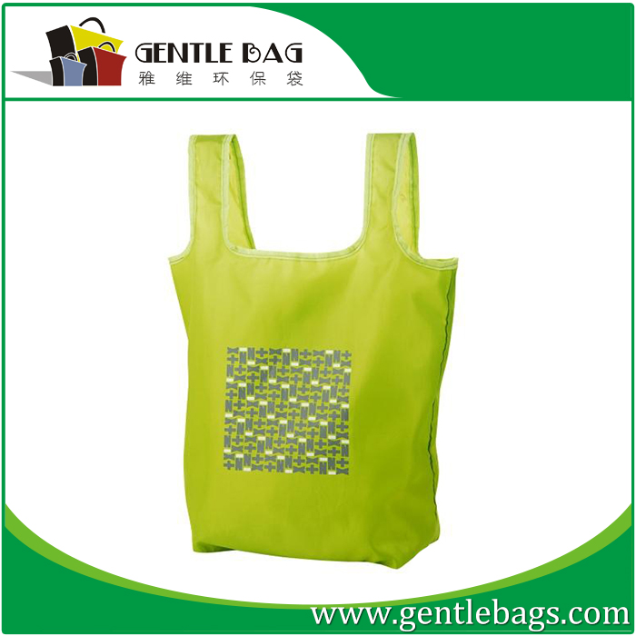 Reusable Shopping Zip Recycled Foldable Shopper Bag Eco Tote