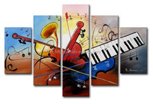 art supplies abstract wall bar decoration picture oil painting painted canvas moder abstract music oil painting on canvas