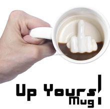 Up Yours Mug Middle Finger Sublimation Ceramic Mug Ella Coffee <strong>Cup</strong>