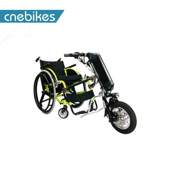 China manufacture 12inch one wheel electric wheelchair handcycle for old people