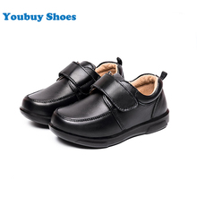Wholesale kids simple design black casual shoes school shoes for teenager boys