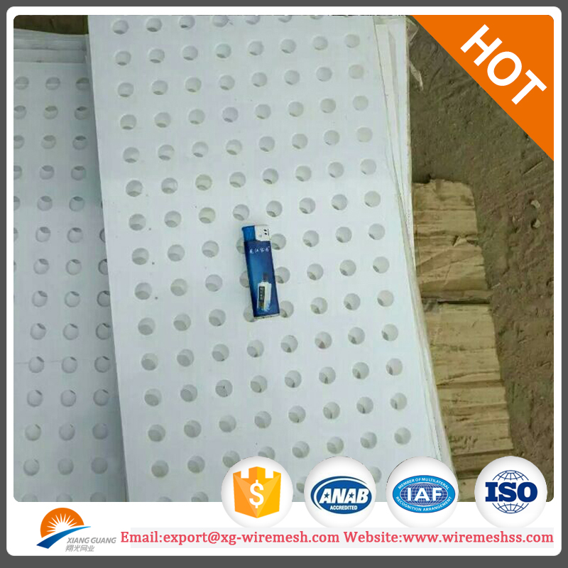 1.6mm thk round hole color paint coated aluminum perforated metal sheet