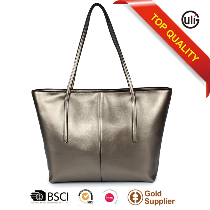 China supplier branded faux leather tote bags women handbags