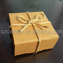 custom design wax packaging brown kraft paper box