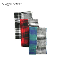 Classical reversible plaid infinity scarf for ladies
