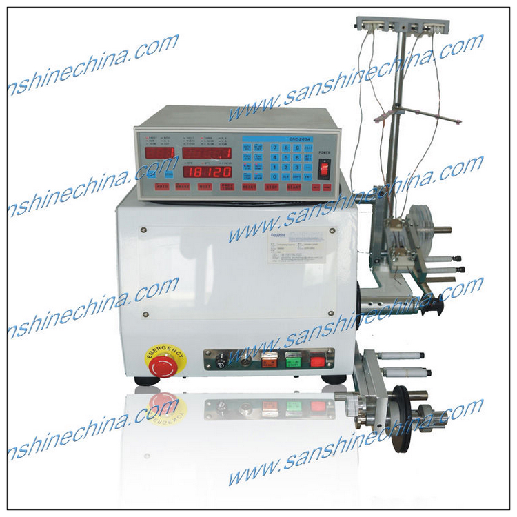 Low-powered PCB transformer coil winding machine