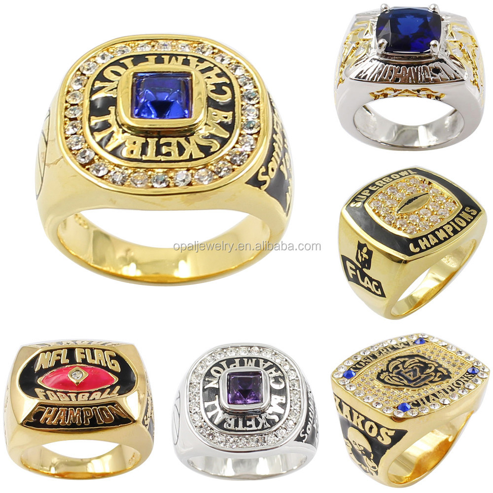 2015 Fantasy Fashion Rings Football Team Champion Ring Size 6-9