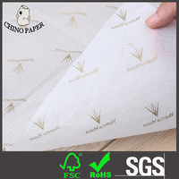 White paper with gold logo printing silk tissue paper for wrap cloths