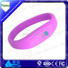 Rubber silicon chip wristband/ NFC bracelets tacking