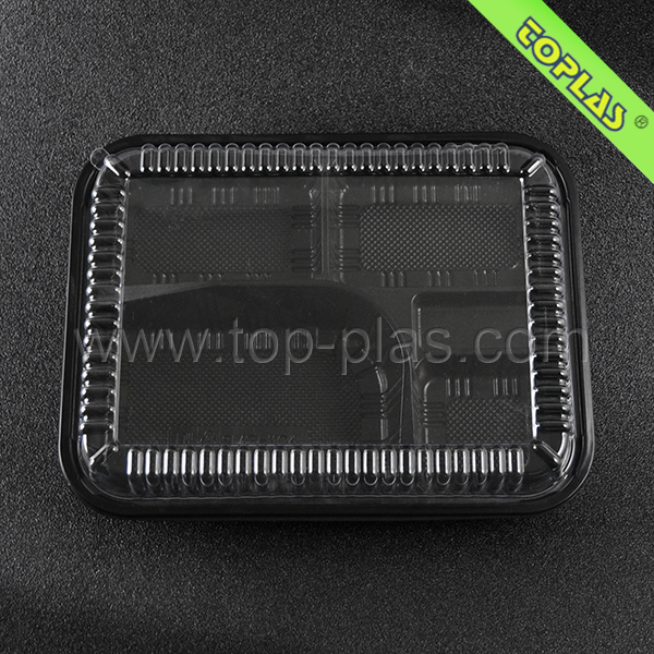Disposable 5 Compartment Lunch Container Rice Food Packaging Boxes