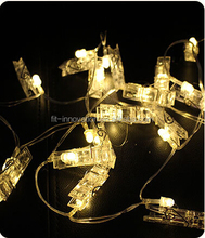 2016 Best sale Battery Operated colorful photo clip string light with 16 leds