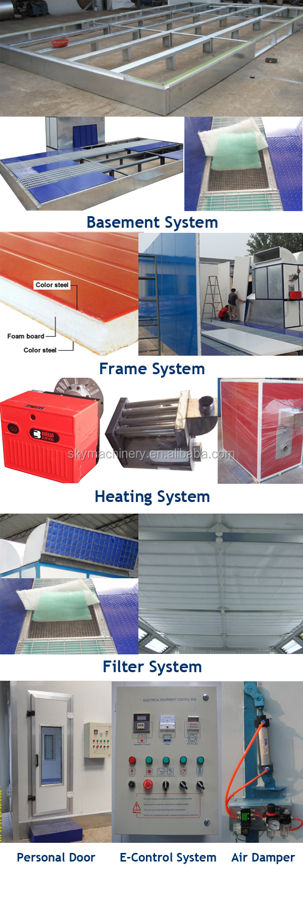 Hot Seller CE Approved Car Spray Booth