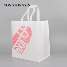 Newest professional custom print logo large shopping non woven packing bag