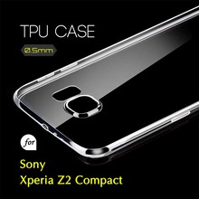 0.5mm Ultra Thin TPU Transparent Clear Protective Case for Sony Xperia Z2 Compact